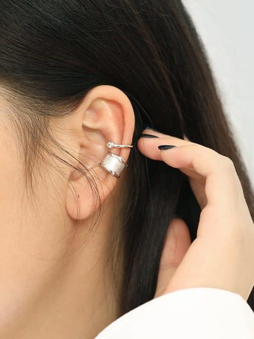 Dak Phoenix 925 Sterling Silver smooth Irregular Vintage Clip Earring [Single] 2